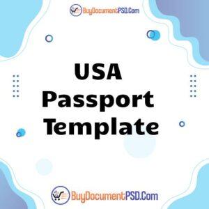 Buy USA Passport Template