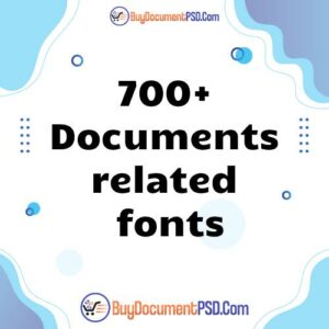 Buy 700+ Documents related fonts