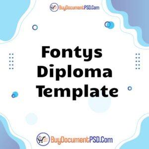 Buy Fontys Diploma Template