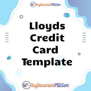 Buy Lloyds Credit Card Template