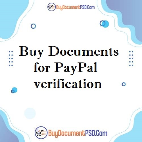 Buy Documents for PayPal verification